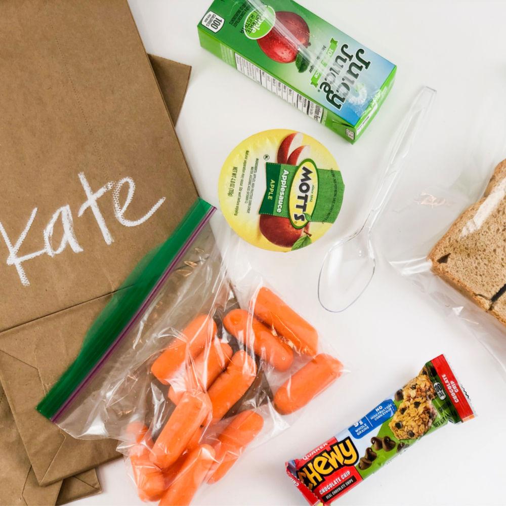 yummy school sack lunch