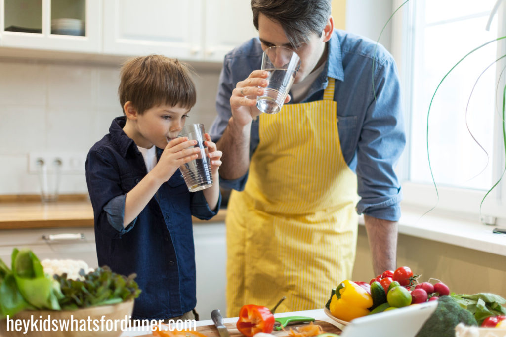 Be a water-drinking role model for your kids