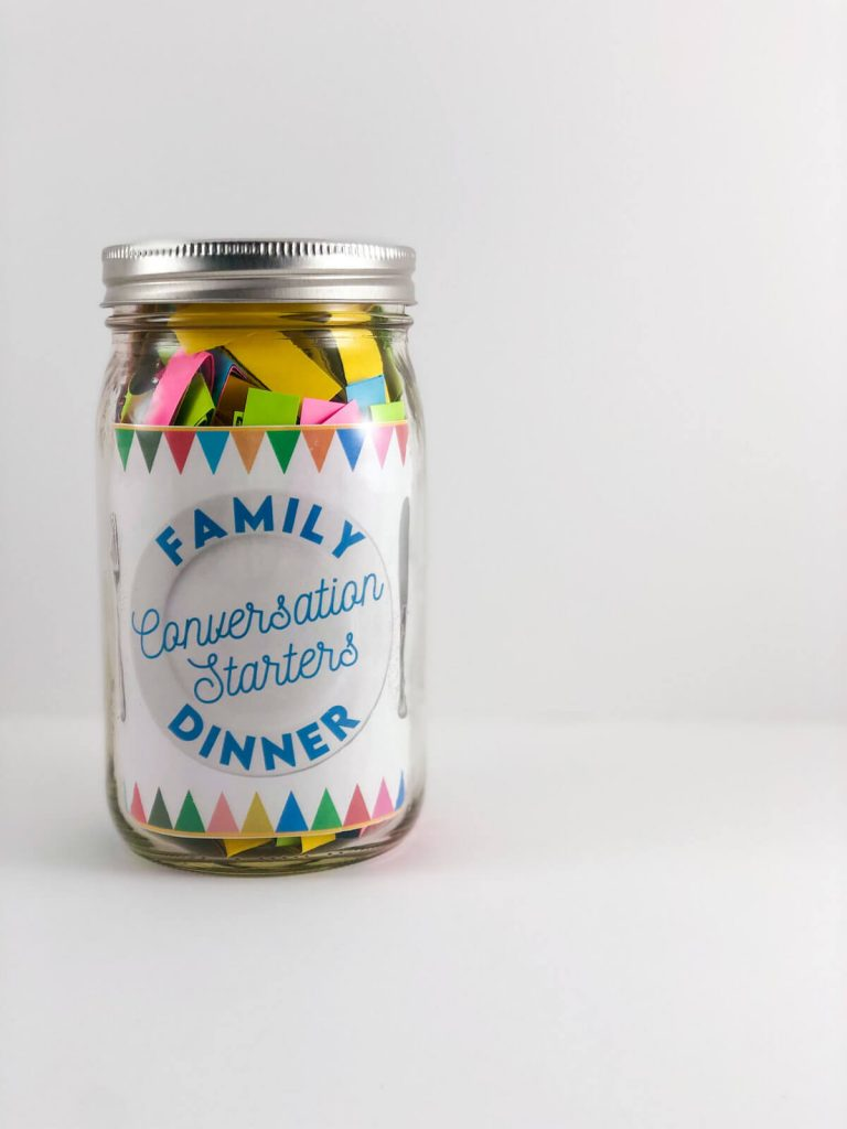 Family Dinner Conversation Starters Jar