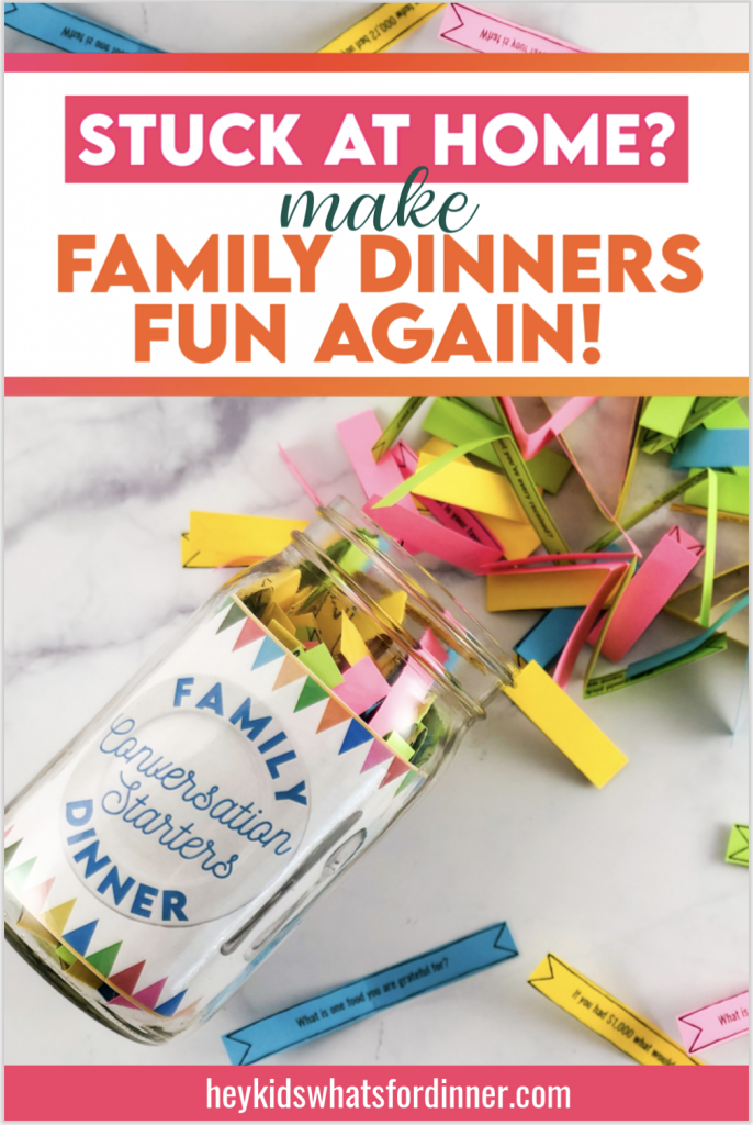 Make family dinners fun again with your own conversation starters jar