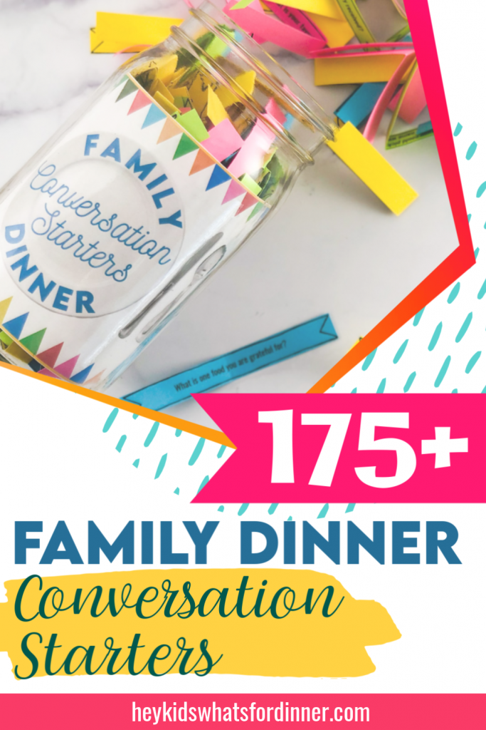 175+ Family Dinner Conversation Starters Jar